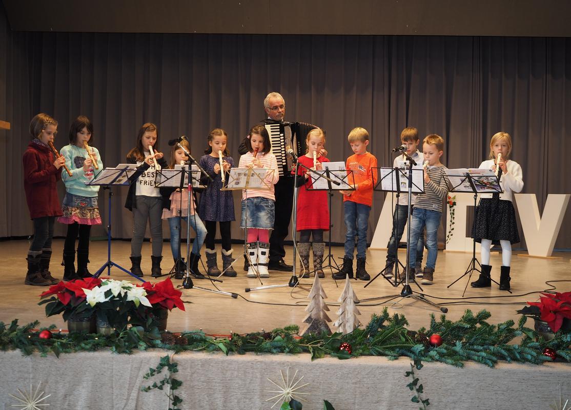 Flötengruppe beim Seniorennachmittag 2017