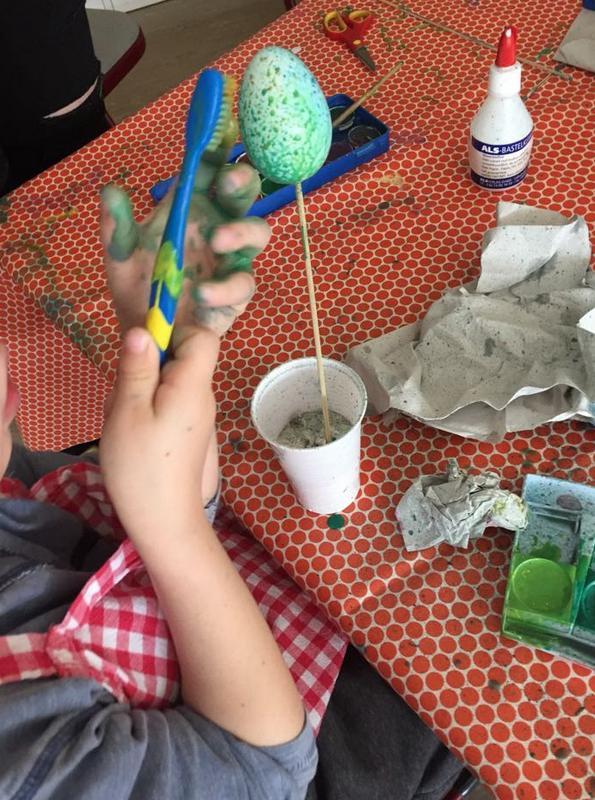 Gruppe 2 Basteln & Backen mit Vorschulkindern für Ostern