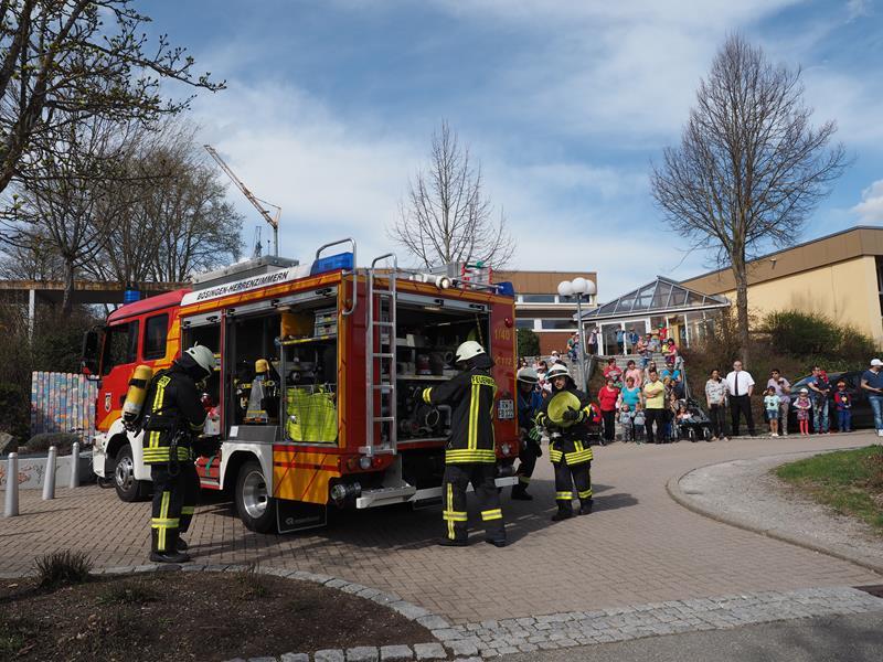 Feuerwehrübung Schule Bösingen