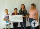 Scheckübergabe Sponsorenlauf Schulfest an Springs of hope