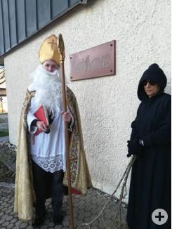 Nikolaus u. Ruprecht auch zu Besuch im Rathaus